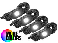 The Vision X XP LED Rock Light Kit is available in 4 or 6 light Configurations.
