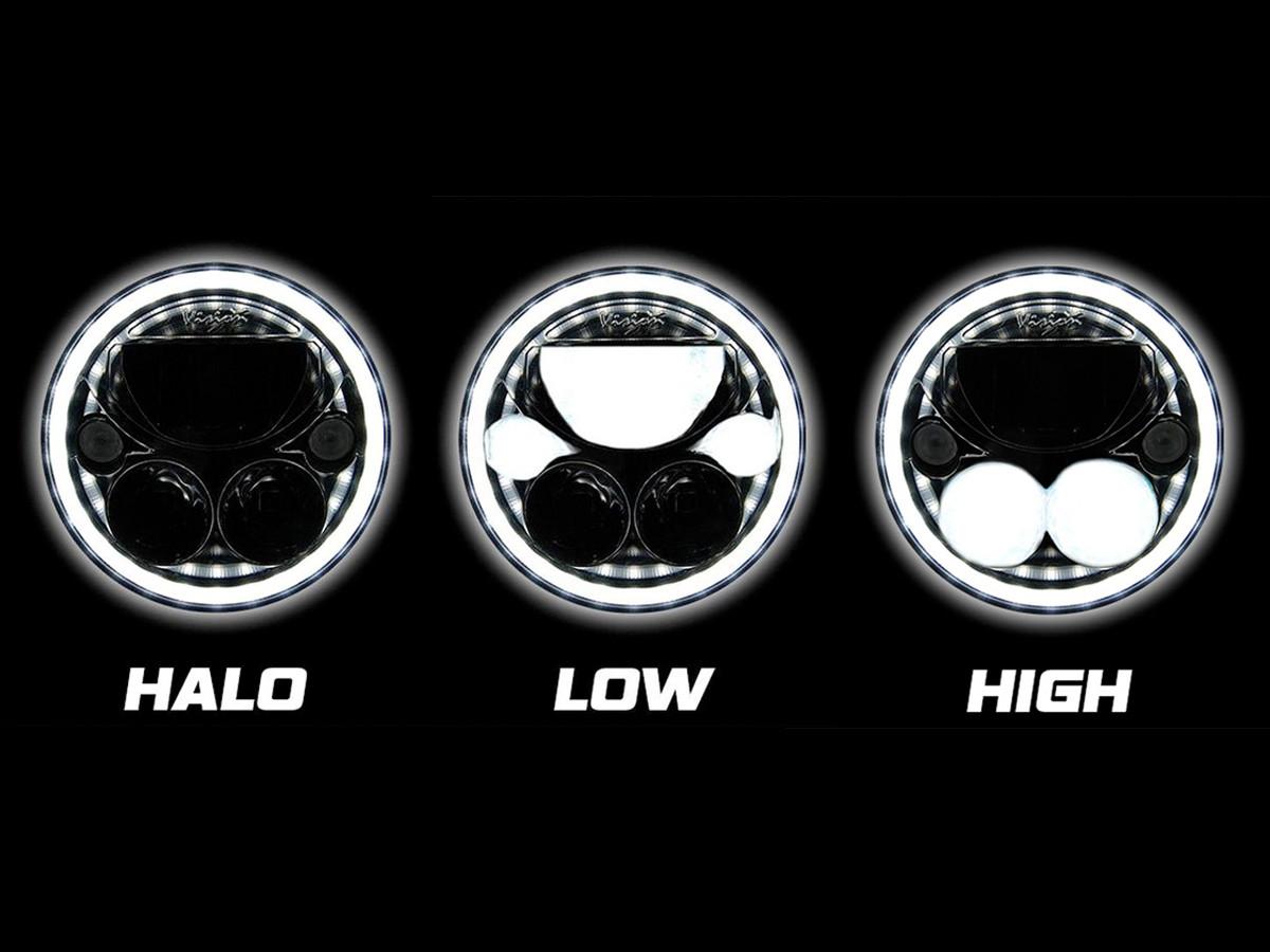 "Vision X 7"" Vortex LED Halo Headlight Beam Pattern"