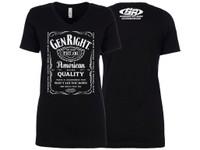 GenRight Women's Whiskey V Neck Shirt