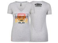 GenRight Womens Icon V-Neck Shirt