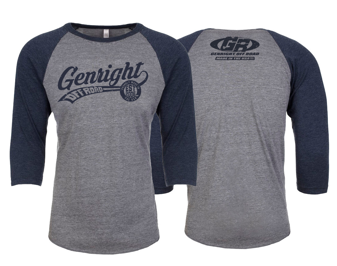 GenRight Ballpark 3/4 Sleeve Shirt (Unisex)