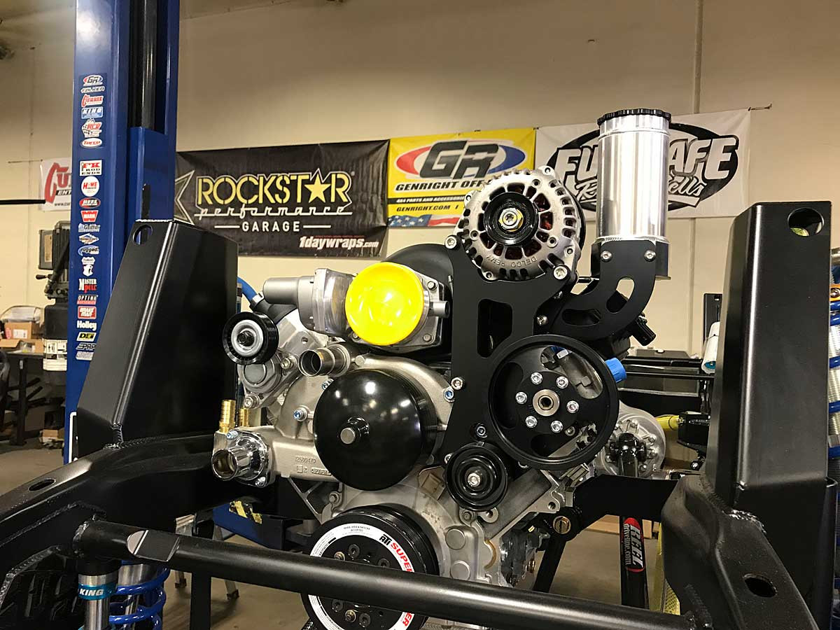 Shown here installed on an LS3 in a Jeep LJ