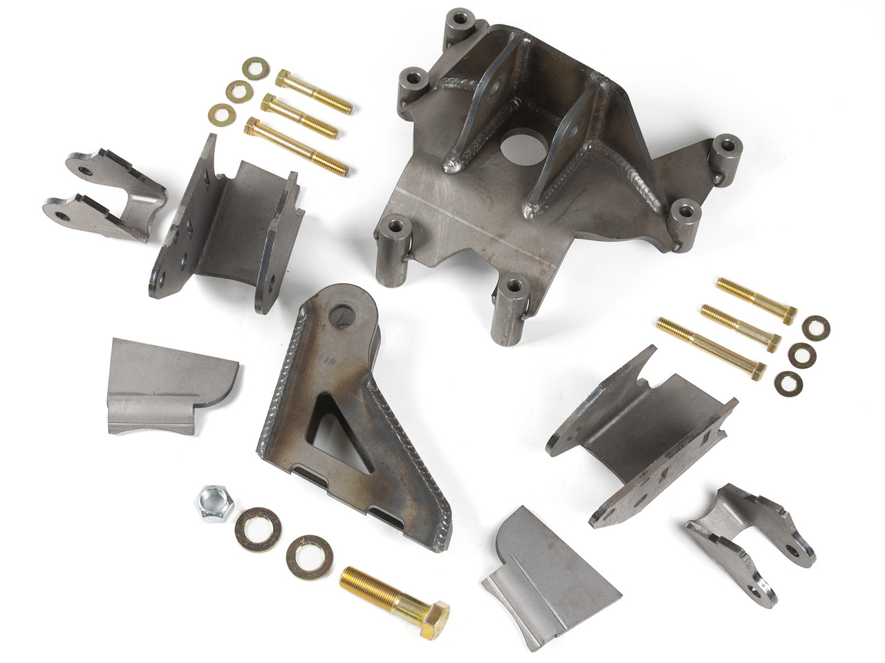"JK Elite Front Axle Bracket Kit w/Trac Bar mount for 3.75"" diameter axle tubes on Pro Rock 60"