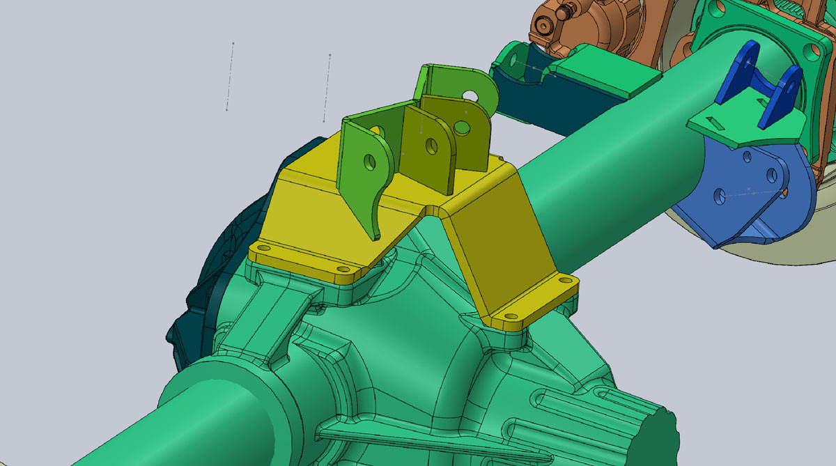Designed in Solidworks CAD to fit the Dynatrac Pro Rock 80