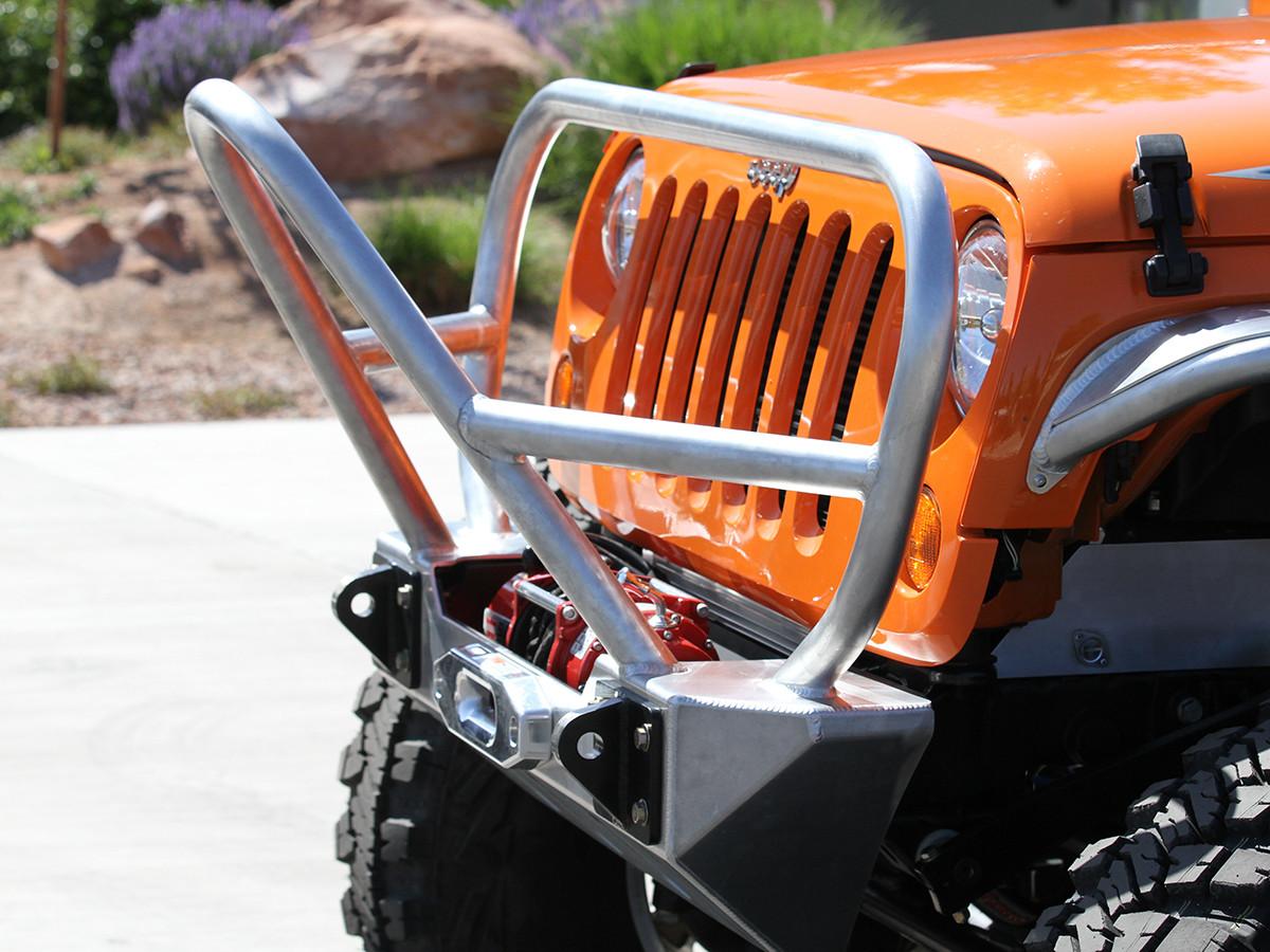 Stinger/Grill Guard Front Bumper - Aluminum (Installed)