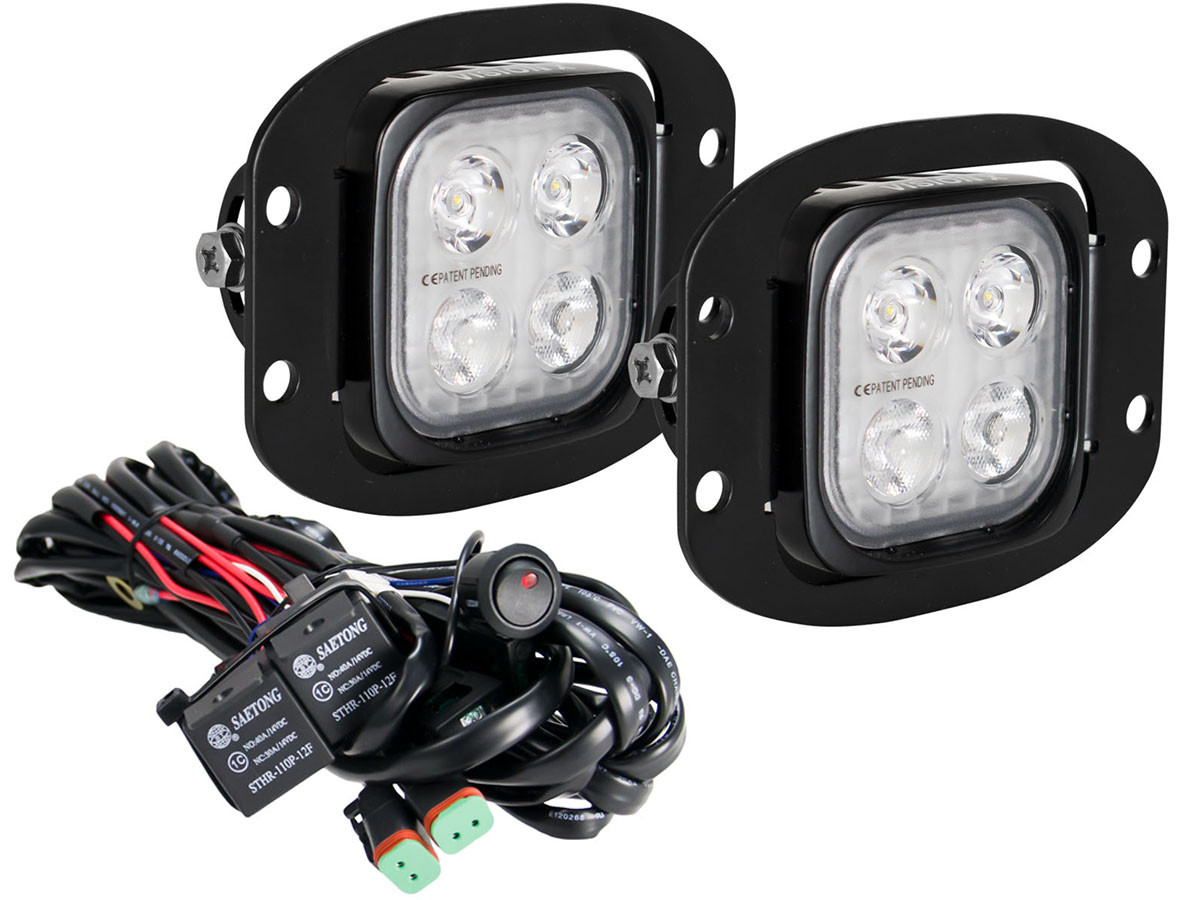 VisionX Duralux Flush Mount Driving Light Kit