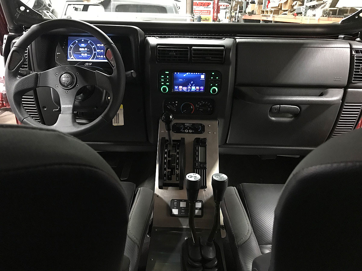 GenRight's aluminum center console fits perfect with the factory dash