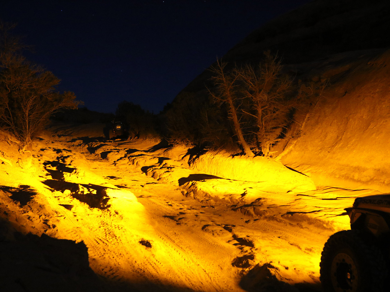 Amber Elliptical provides great night time lighting