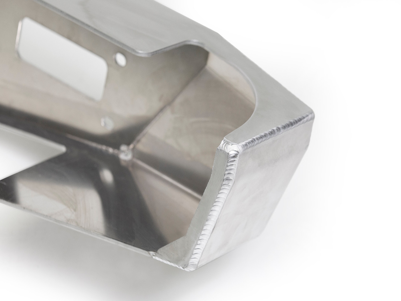 TIG welded end cap provides a seamless fit to the body.