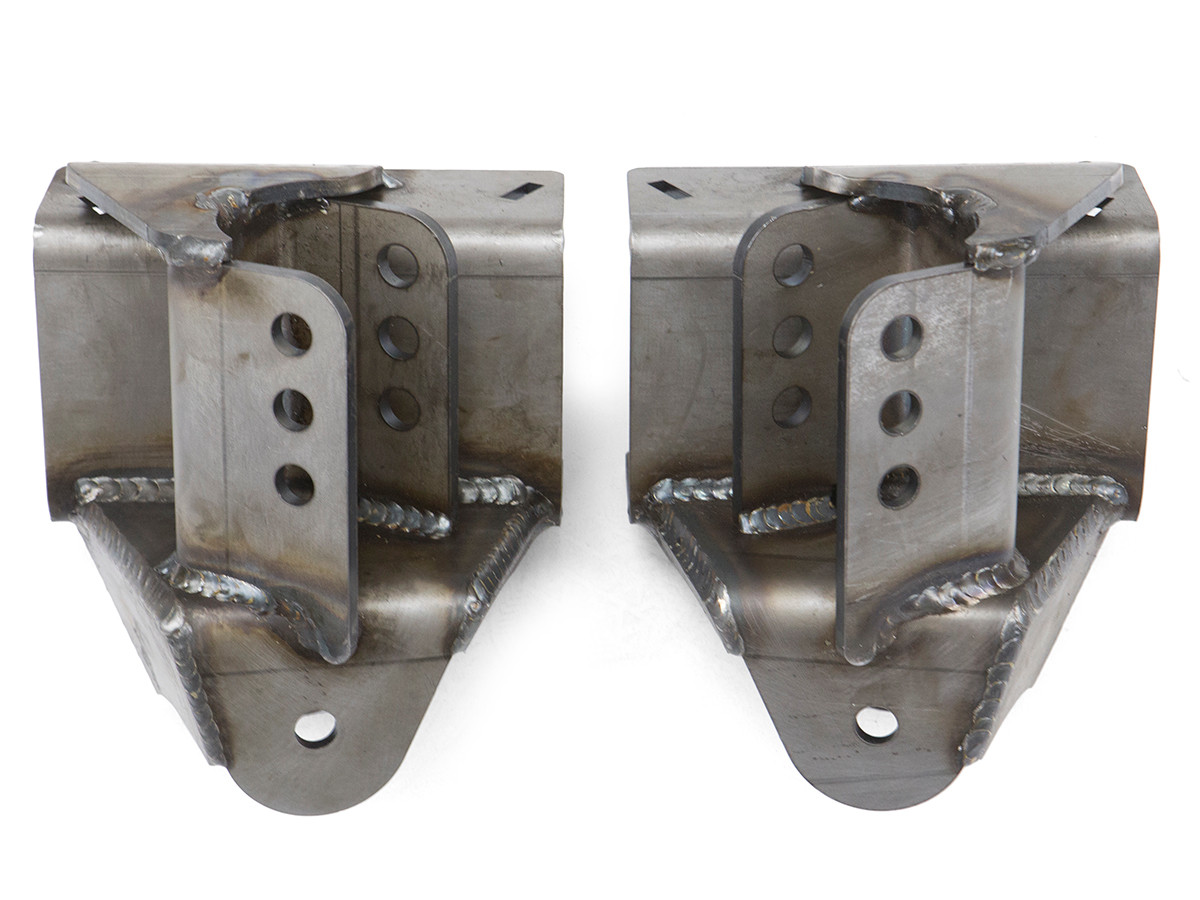 This is what the brackets look like once the pieces are welded together