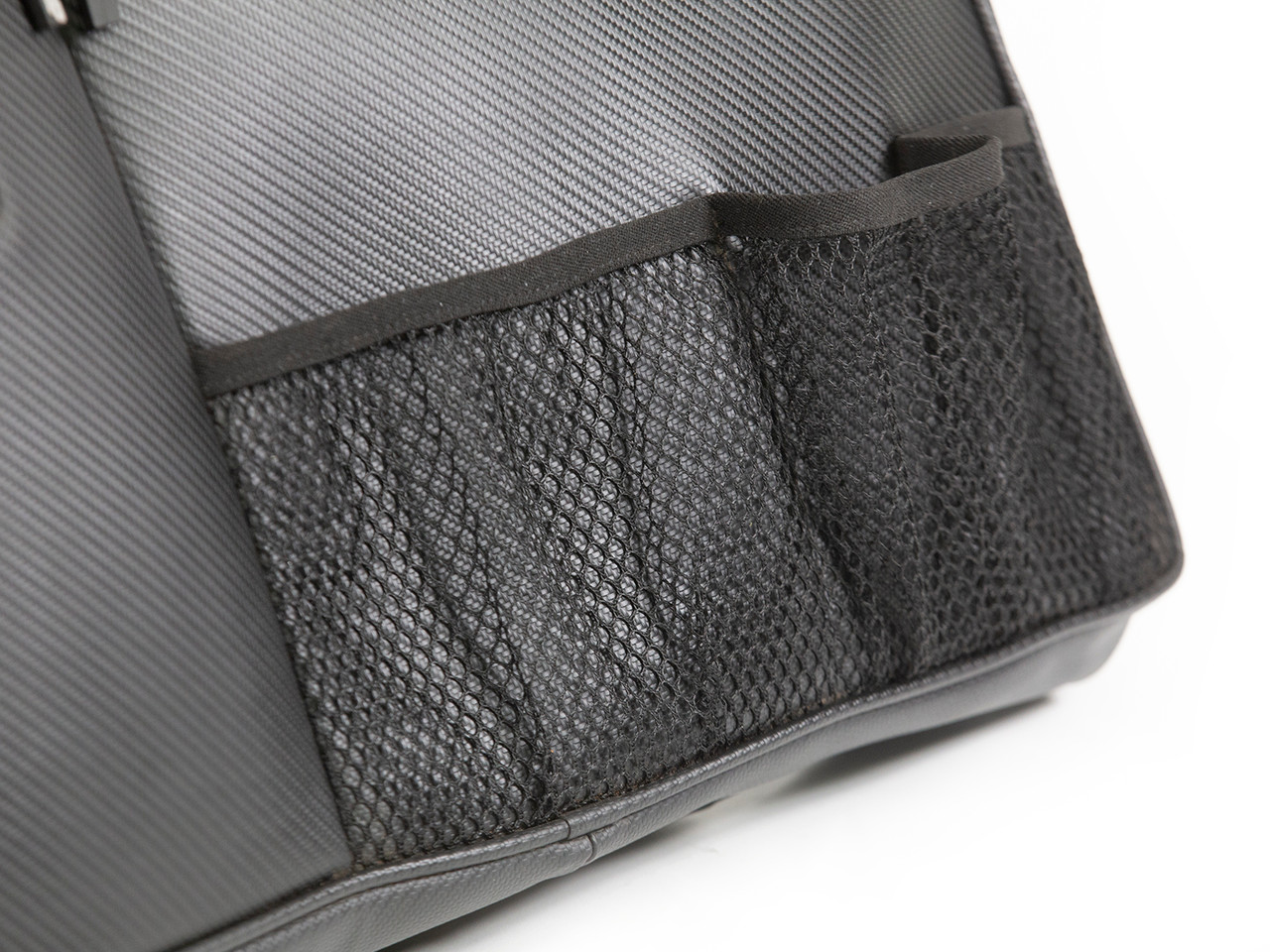 Mesh pockets to hold water bottles and other easy to access accessories