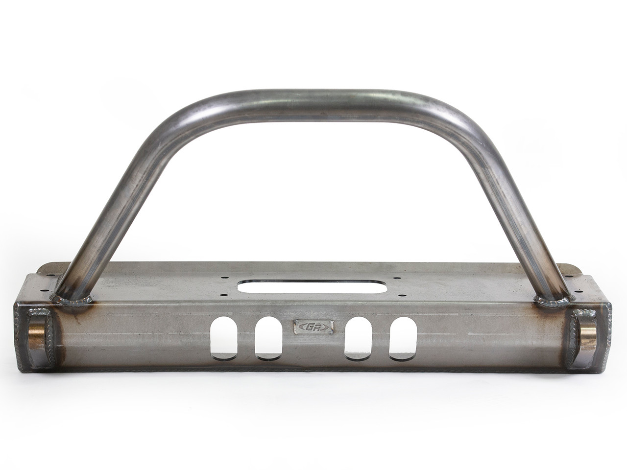 Front view of the GenRight JK Frame Chop Bumper w/ Trail Bar