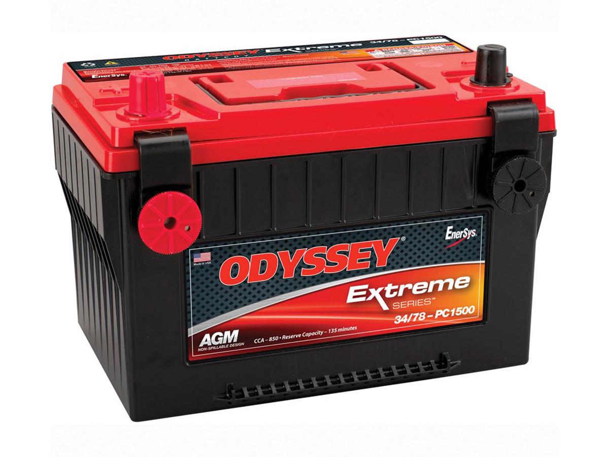 Odyssey 34/78-PC1500 Battery, Gel Style, Sealed Battery for Jeep TJ, LJ, YJ, & CJ