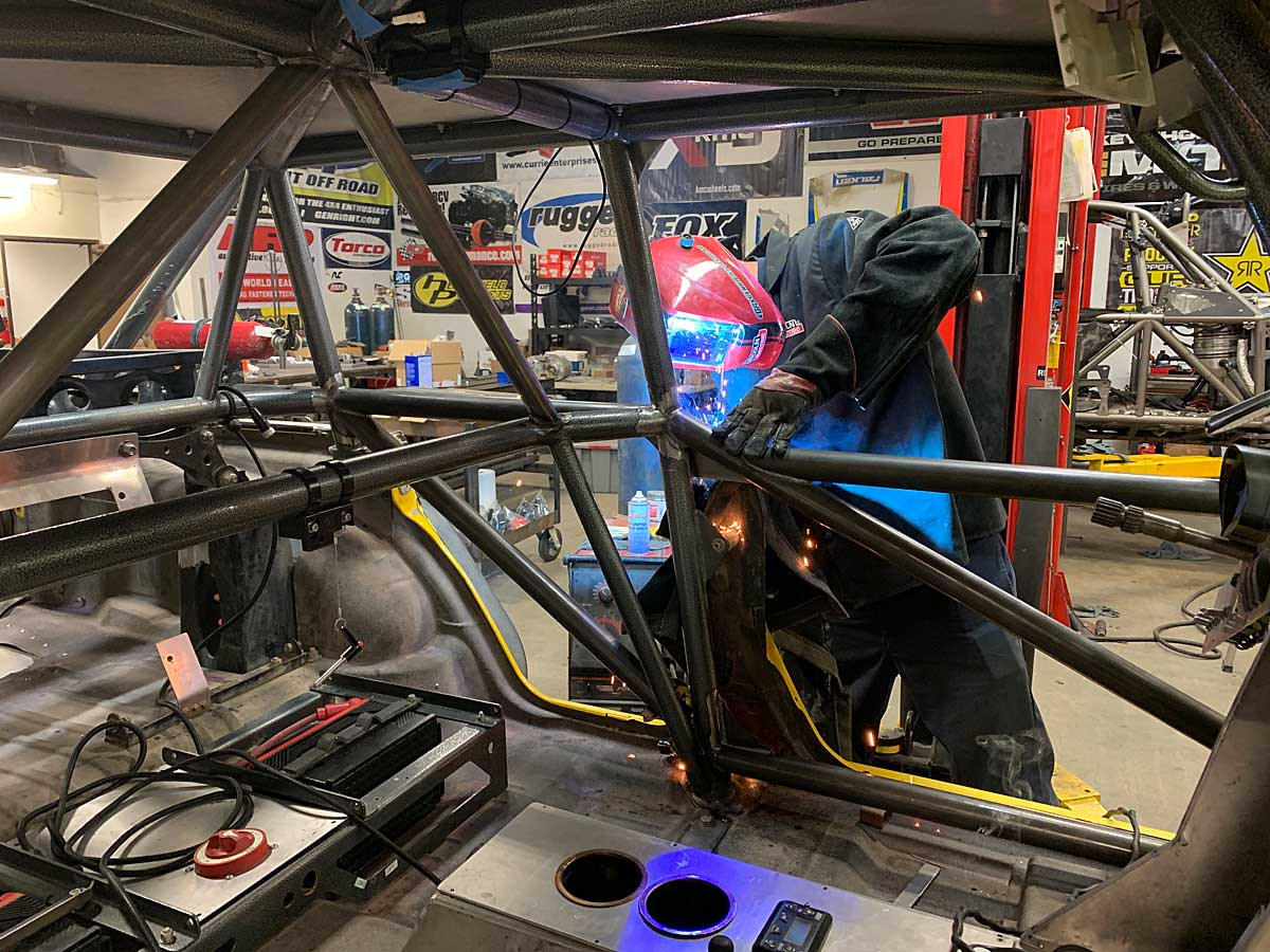 Welding in the tubes to be race legal.