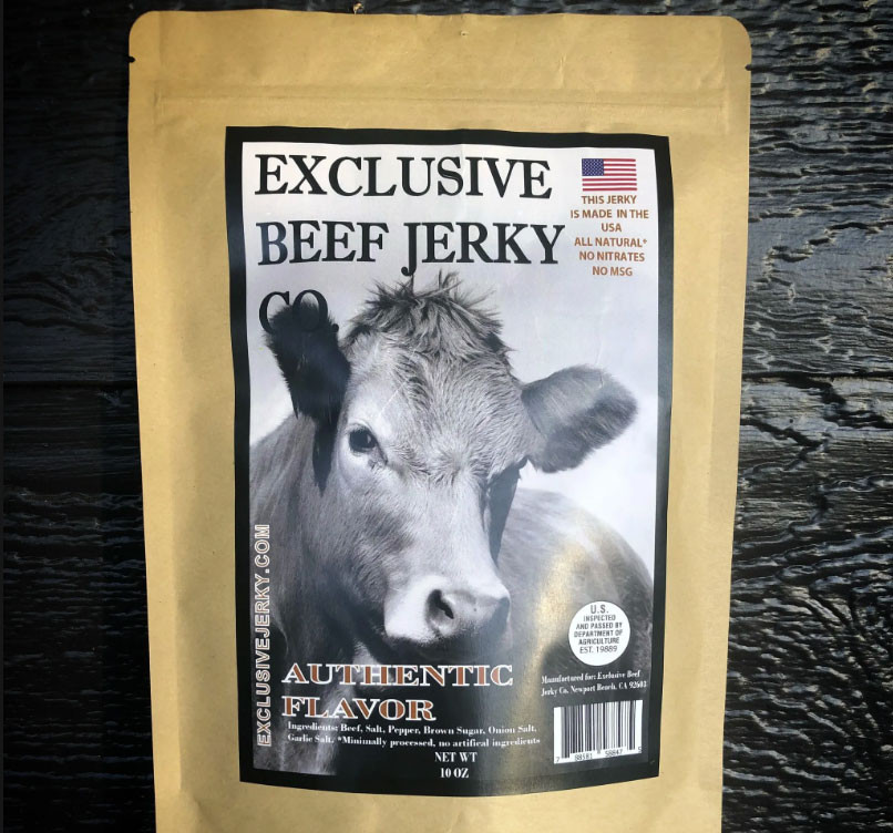 Resealable packaging keeps air and light out and jerky fresh!