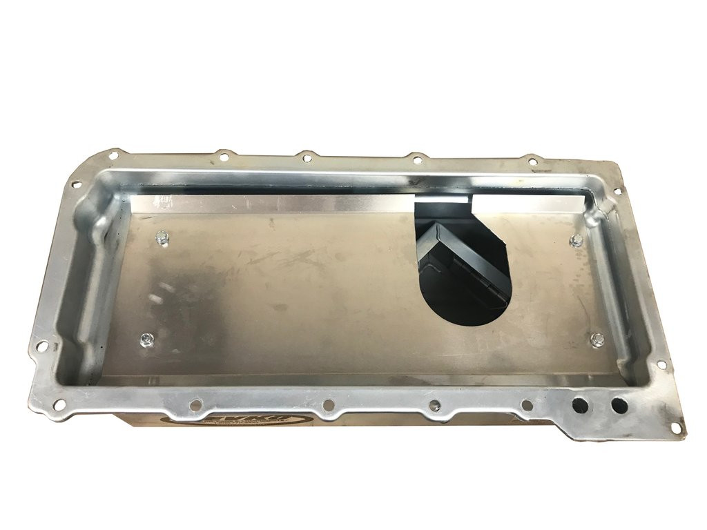 Trap door pick up inside Kevko Racing oil pan for the LS V8