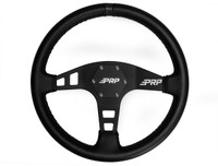 "6-bolt PRP ""flat"" Leather Steering wheel, Black"