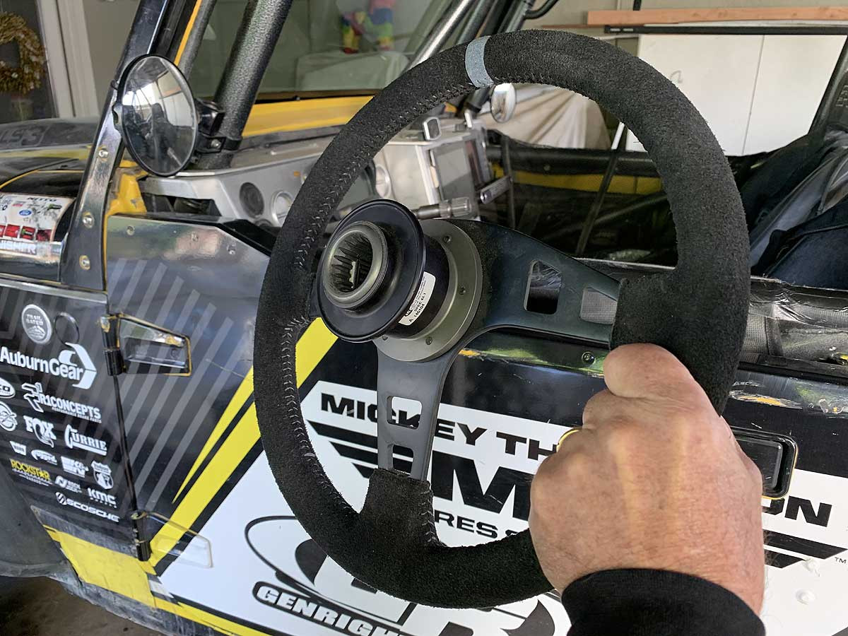 Pictured here with GenRight quick release hub on the wheel