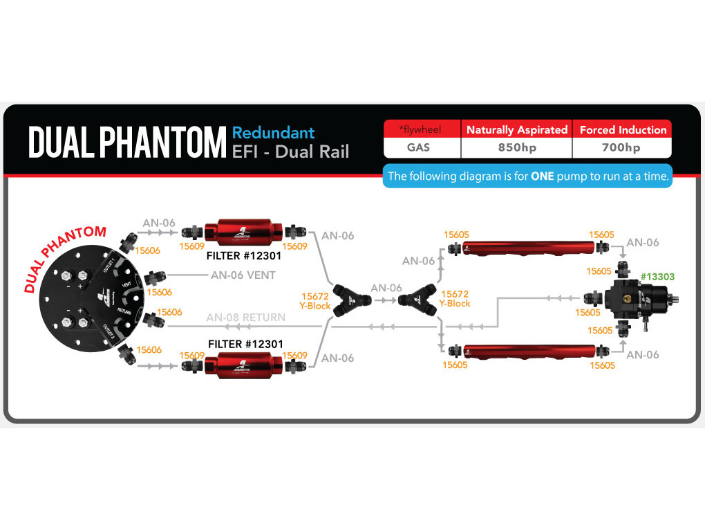Showing how to plumb set up in a dual phantom pump system