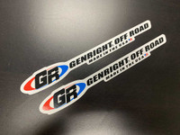 "GR, GenRight Off Road 8"" long color stickers"