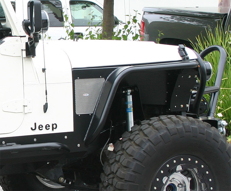 Dome sticker pictured here on side perf panel of front fender