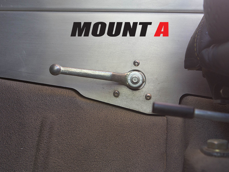 A mounting style for this line lock, parking brake