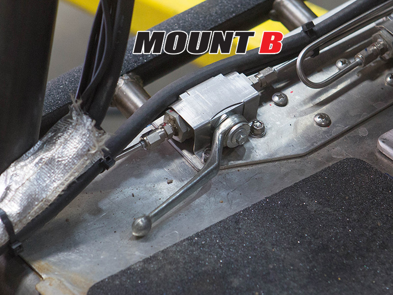 B mounting style for this line lock, parking brake