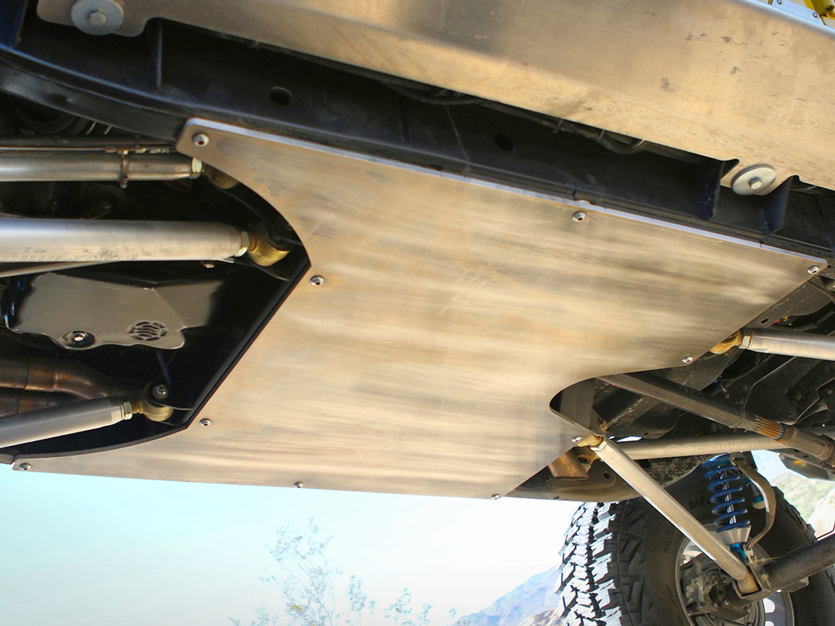 GenRight's completely flat 6061 Aluminum belly skid plate, for the Jeep JKU
