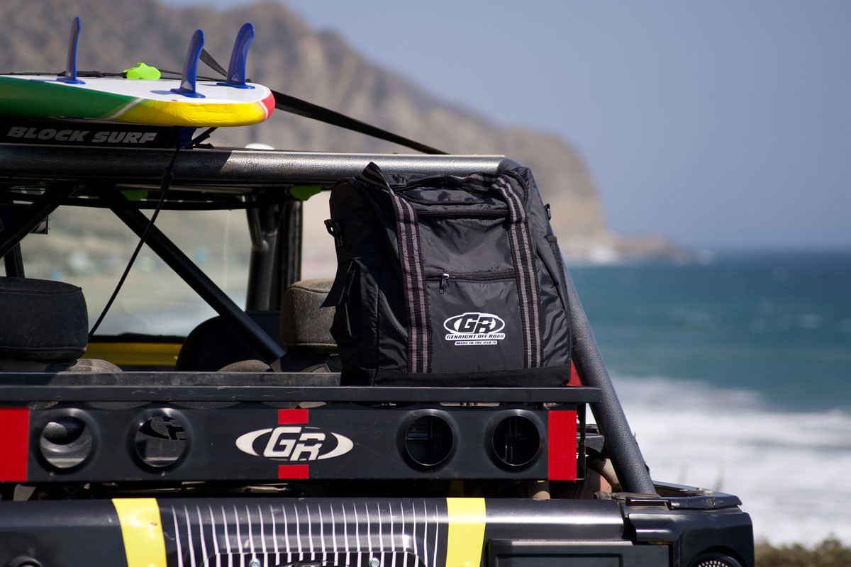 GenRight Insulated Soft Cooler in the cargo rack