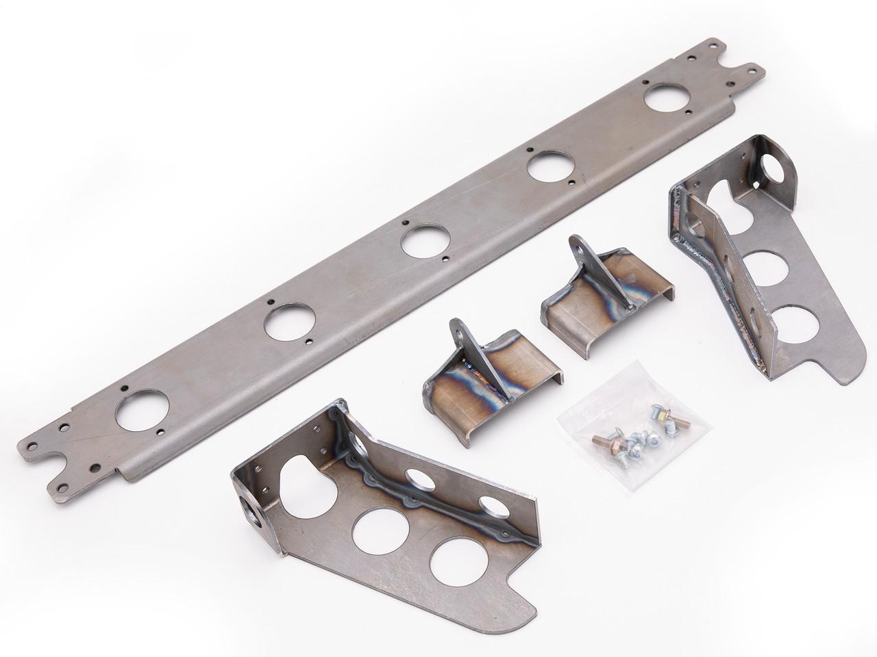GenRight's mounting kit for the custom Griffin Radiator JK V8 radiator