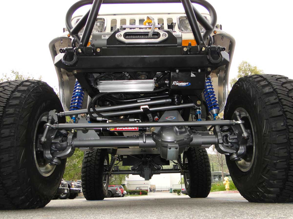 Currie 60 installed in the front of a Jeep with 3 link front