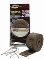 """DEI 2"""" wide x 25' long Titanium exhaust wrap roll and 4 stainless ties"""