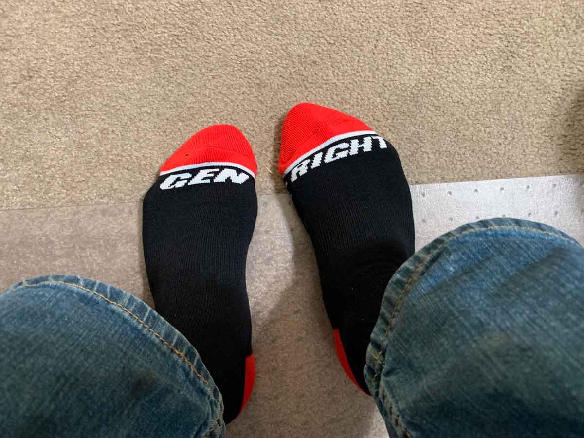 Gen-Right socks on your feet!