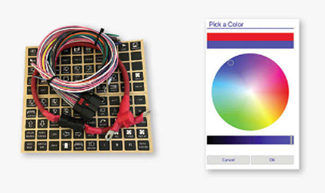 Switch Pros; Wire harness, labels and color chart