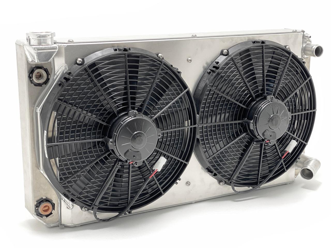 Custom Ron Davis radiator for LS V8 with GenRight Tracer Suspension