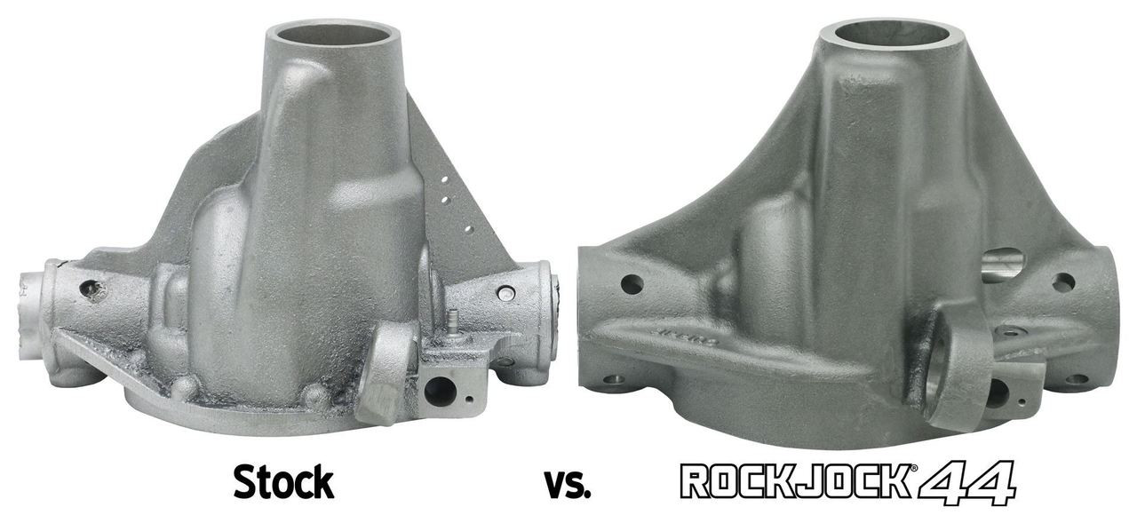 Compare the stock JL Dana 44 to the Currie RockJock 44 Center section