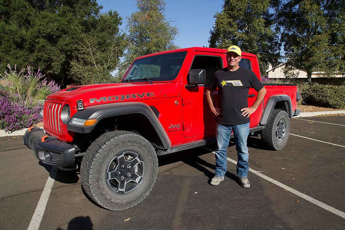 Tony with a Gladiator from the Jeep factory