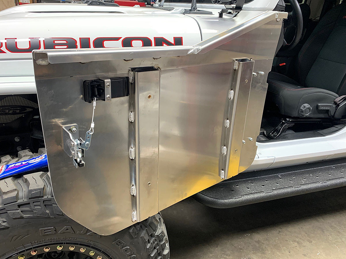 Inside of the GenRight JL aluminum half door
