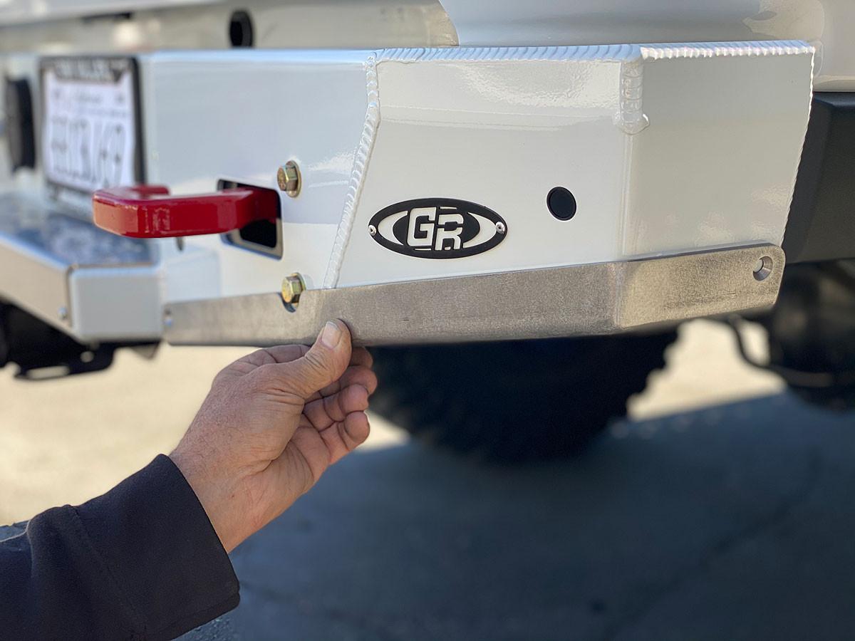 GenRight Rash Guards for the Gladiator (JT) Aluminum Rear Bumper