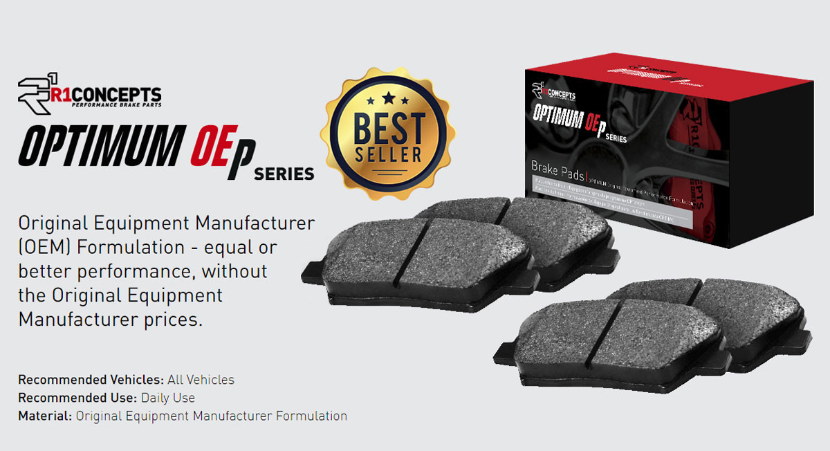 R1 OEp FRONT brake pad set for the Jeep JL Rubicon