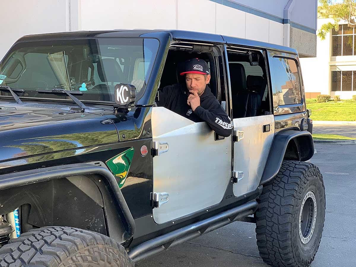 GenRight Aluminum half doors for the Jeep JL & JT