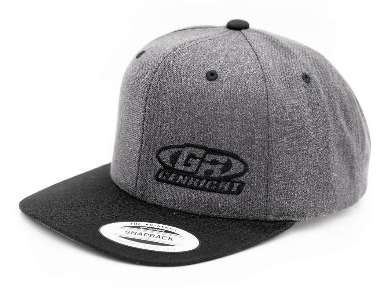 enRight Logo Premium 6-Panel Snapback Cap (Charcoal/Black)