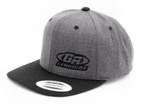 enRight Logo Premium 6-Panel Snapback Cap (Charcoal/Black)