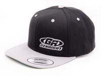 GenRight Logo Premium 6-Panel Snapback Cap (Black/Grey)