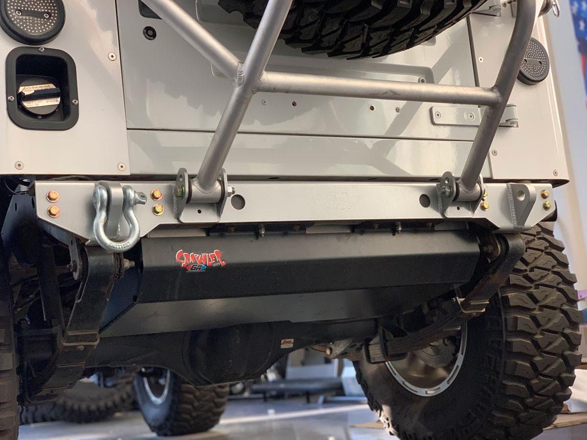 YJ Rear Bumper Plate for the GenRight Swing Down Tire Carrier