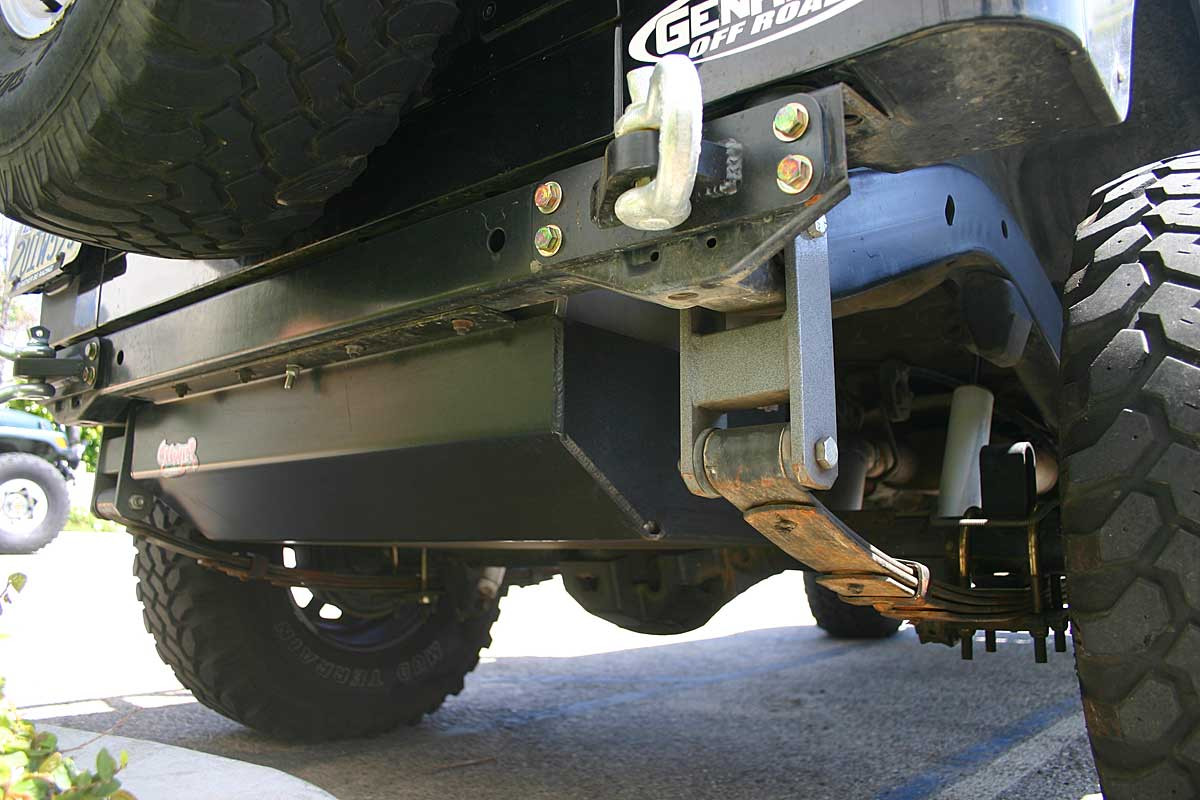 The GenRight tank installed on a YJ with leaf springs