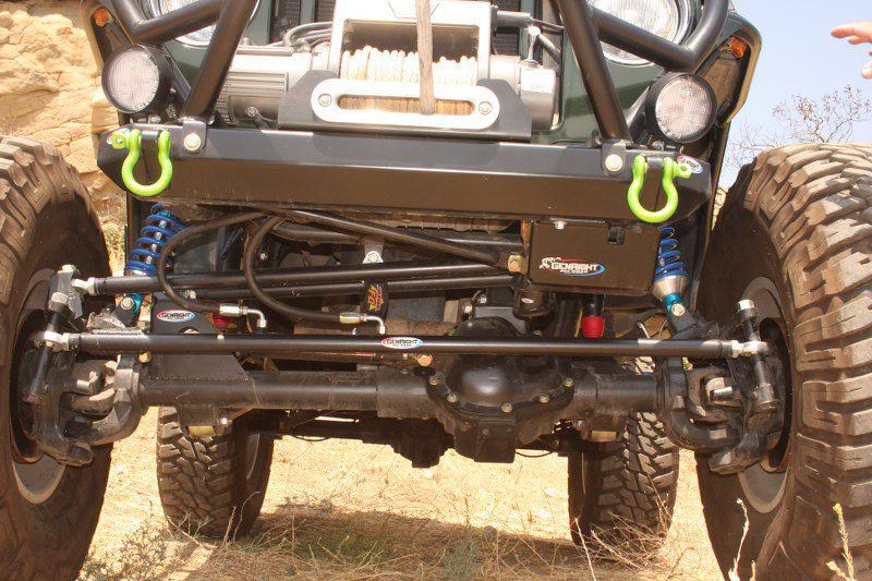 GenRight's CrMo Tie Rod and Drag Link on a Currie RockJock 60