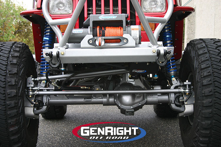 STK-8750 CrMo Tie Rod and Drag Link kit on a Currie Rock Jock 60 w/aluminum knuckles