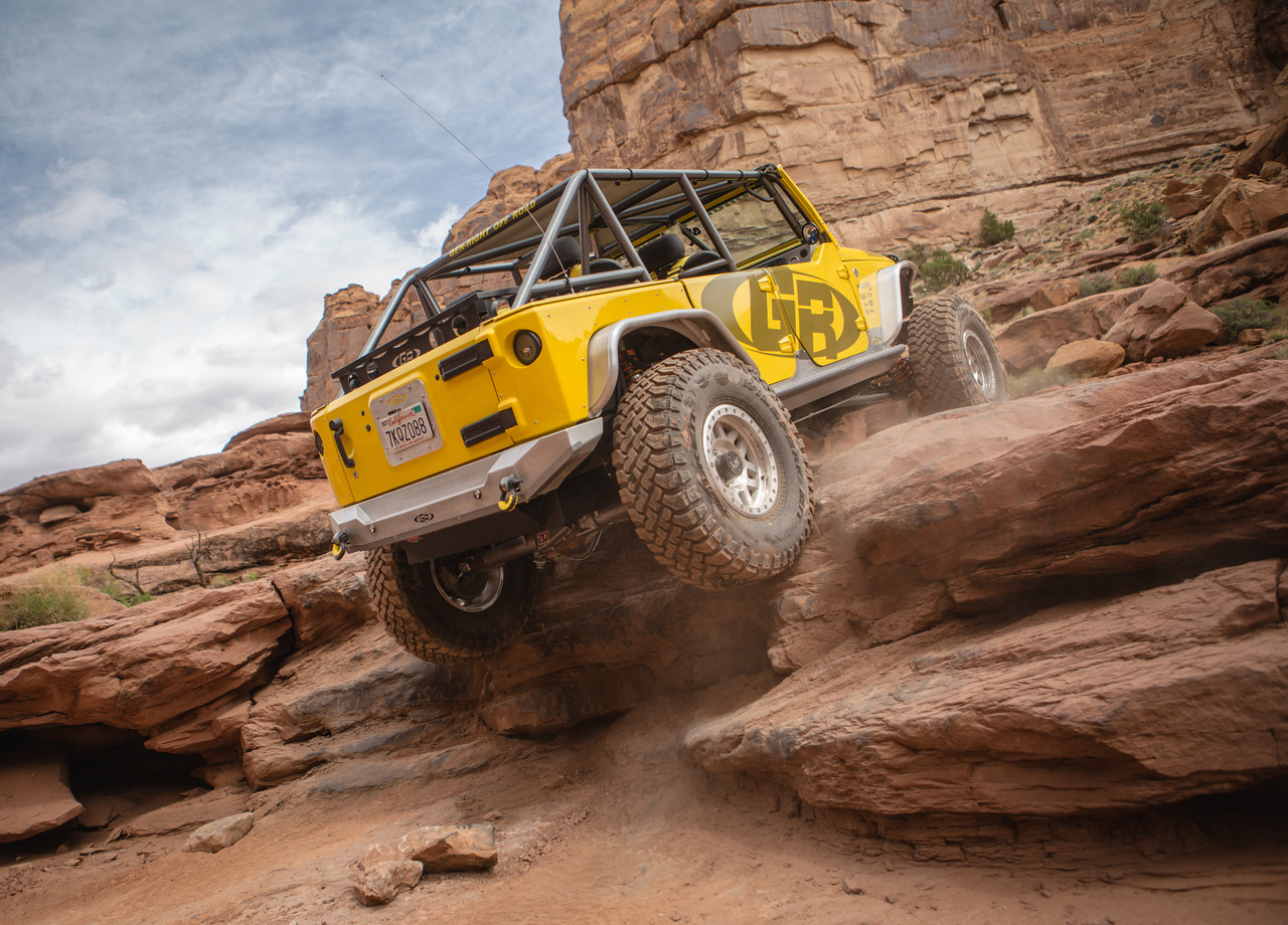 The Currie Rock Jock 70 being put to the test on Pritchett Canyon in Moab, UT.