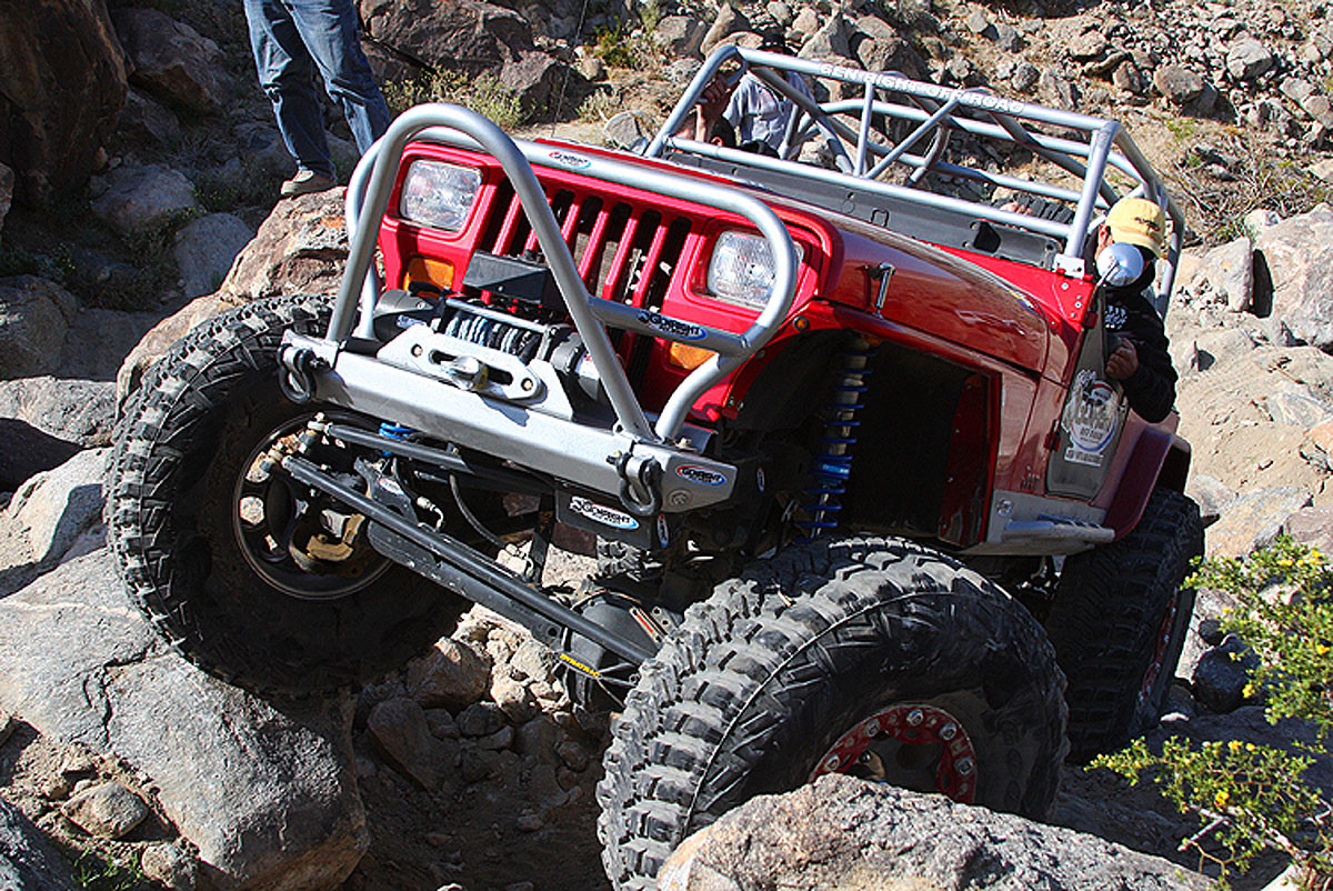 Shown here in the GenRight built Growler YJ out on the trail